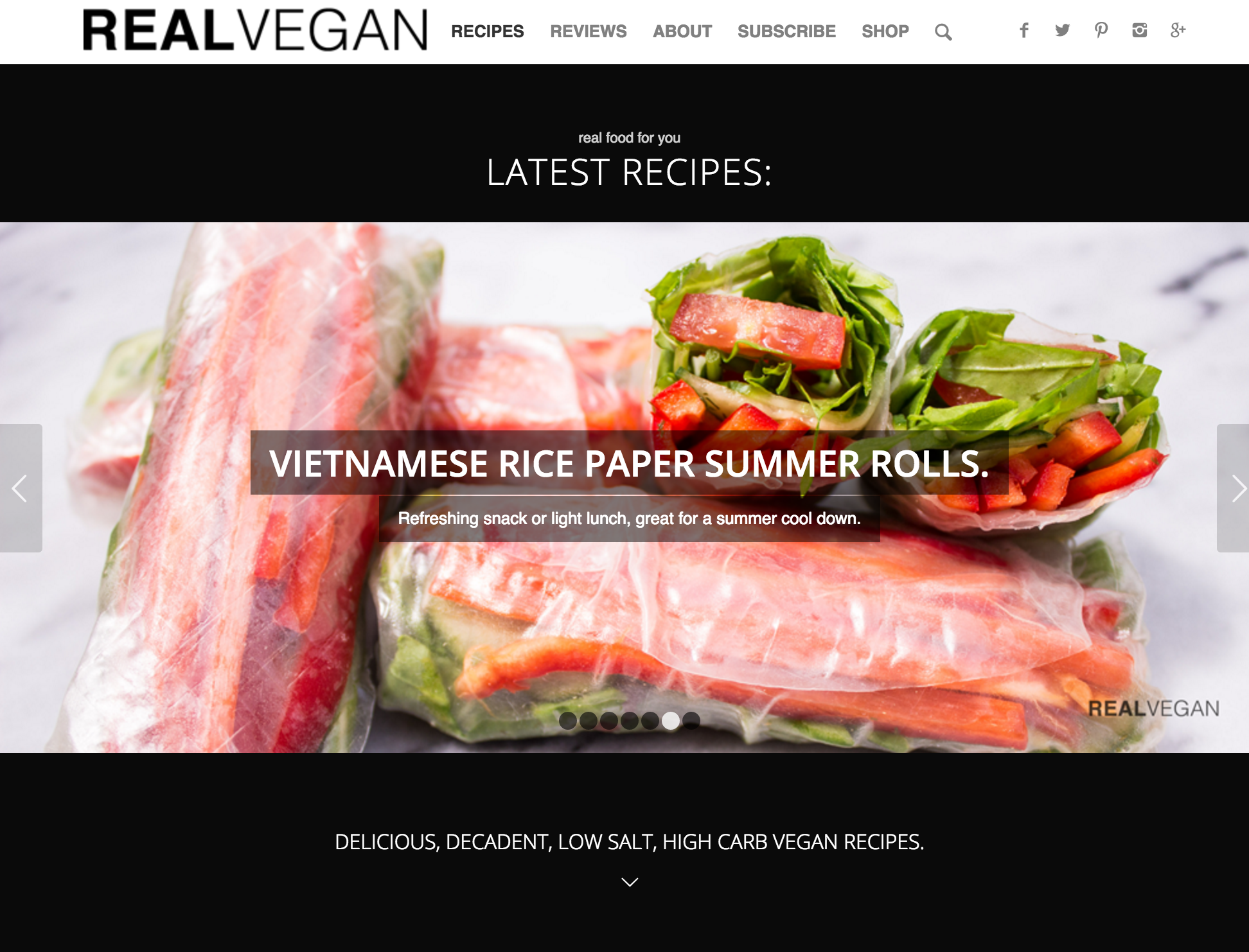 A screenshot of realvegan.co.uk